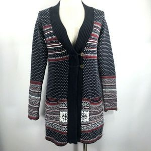 Hanna Andersson sz S Long Cardigan Sweater Cotton